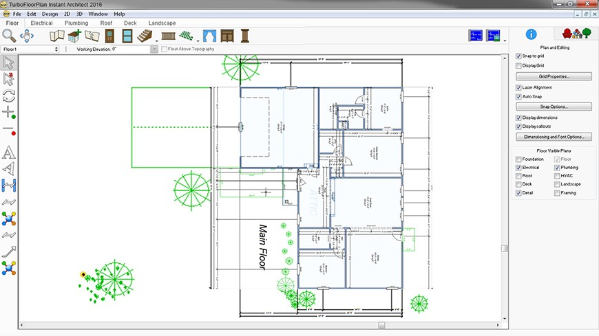turbofloorplan instant architect 2016
