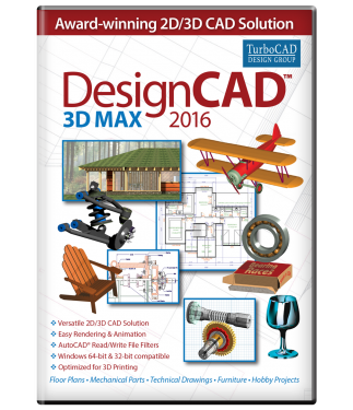 DesignCAD 3D Max 2016 Upgrade From V22-V24