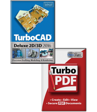 TurboPDF V2 and Turbocad Deluxe 2016 Bundle