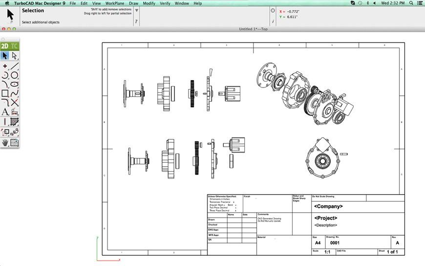 TurboCAD Mac Designer 2D v10 and Training Bundle
