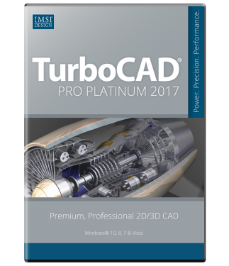 TurboCAD Pro Platinum 2017 Upgrade from Pro/Pro Platinum v21-19