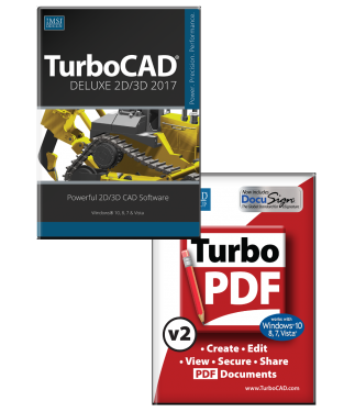 TurboCAD Deluxe 2017 and TurboPDF Bundle
