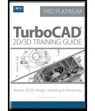 2D/3D Training Guide Bundle for TurboCAD Pro Platinum 2017