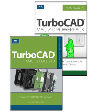 TurboCAD Mac Deluxe v10 & PowerPack Bundle