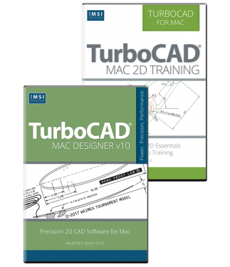 TurboCAD Mac Designer 2D v10 Bundle