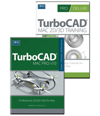 Turbocad Mac Pro V10 and Training Bundle