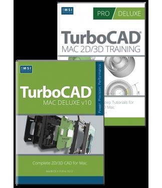 TurboCAD Mac Deluxe v10 and Training Bundle