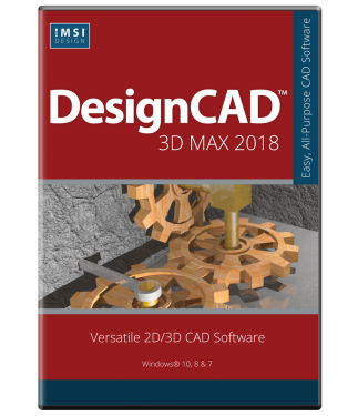 DesignCAD 3D Max 2018 Upgrade From v23-v25, 2016