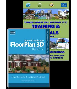 TurboFloorPlan Pro 2017 & Training Bundle - Windows Version