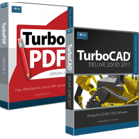 TurboCAD Deluxe 2017 and TurboPDF v3 Bundle Thumbnail