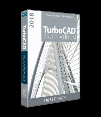 TurboCAD Pro Platinum 2018 Upgrade from Pro/Pro Platinum v20,v21,2015