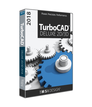 TurboCAD Deluxe 2018 Upgrade from Deluxe 2016 or 2017
