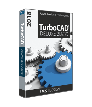 TurboCAD Deluxe 2018 Upgrade from TurboCAD Deluxe v2015, v21, v20