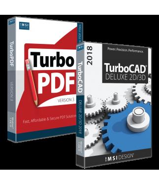 TurboCAD Deluxe 2018 and TurboPDF v3 Bundle