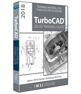 2D/3D Training Guide Bundle for TurboCAD Platinum 2018