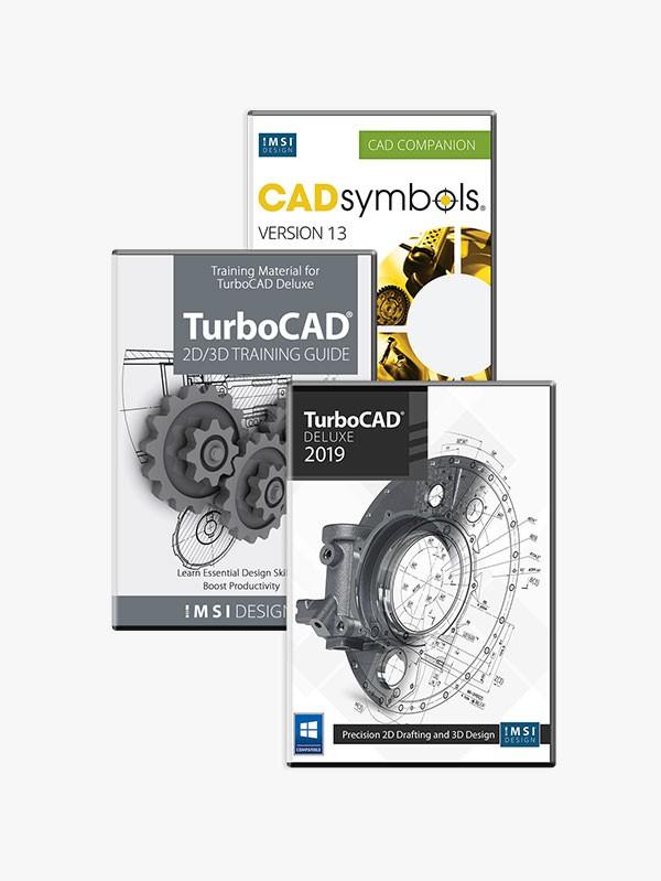 TurboCAD 2019 Deluxe Bundle - TurboCAD via IMSI Design