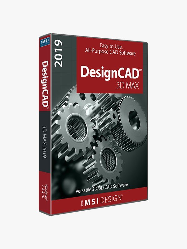 DesignCAD 3D Max 2019 (Upgrade from DesignCAD 3D Max 2016 and previous  versions) - TurboCAD via IMSI Design