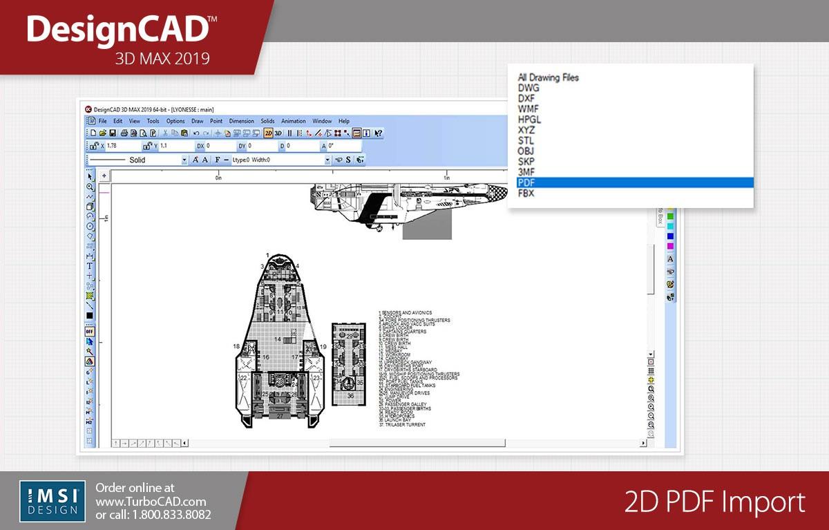 DesignCAD 3D Max 2019 (Upgrade From v27) - TurboCAD via IMSI Design