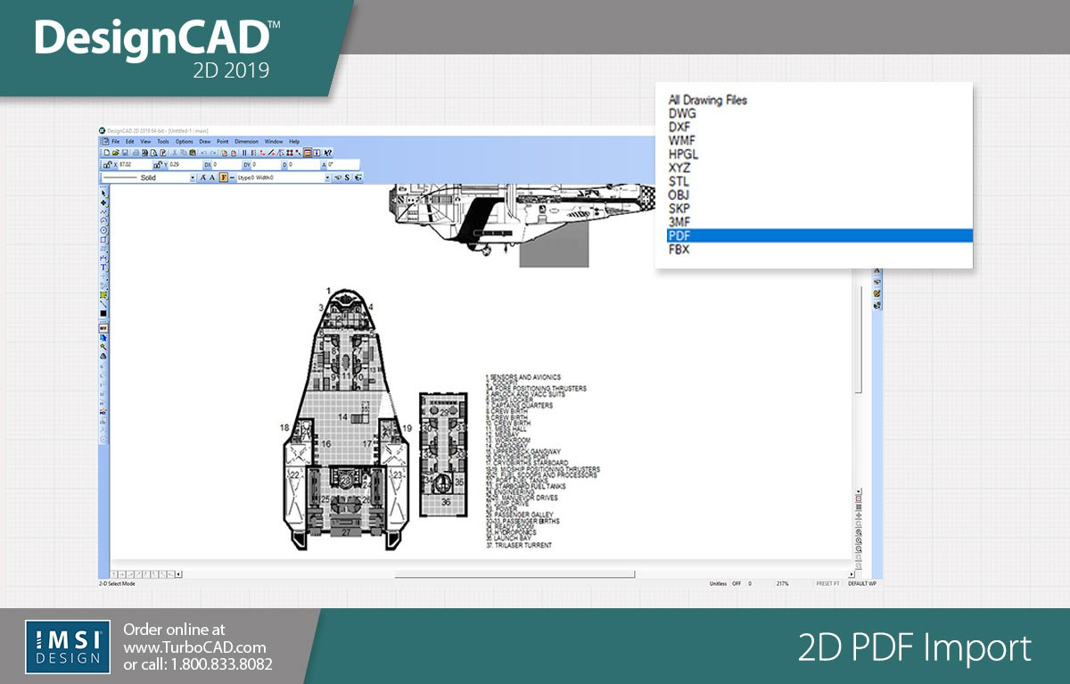 DesignCAD 3D Max 2019 (Upgrade From v2018) - TurboCAD via IMSI Design