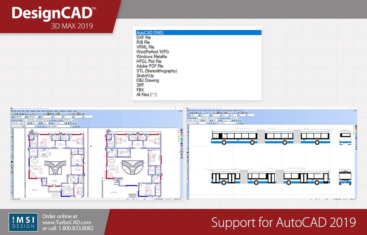 DesignCAD 3D Max 2019 (Upgrade from DesignCAD 3D Max 2016 and previous  versions) - TurboCAD via IMSI Design