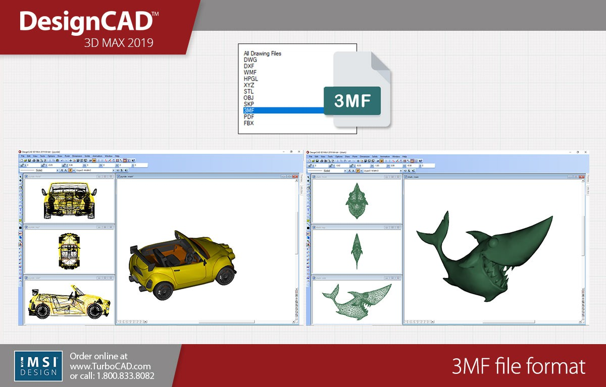 DesignCAD 3D Max 2019 Bundle - TurboCAD via IMSI Design