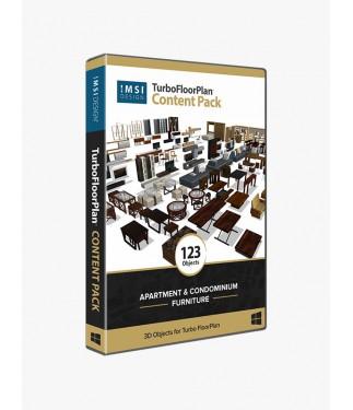TurboFloorPlan Content Pack - Apartment and Condominium Furniture