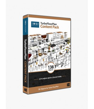 TurboFloorPlan Content Pack - Kitchen & Bath Collections
