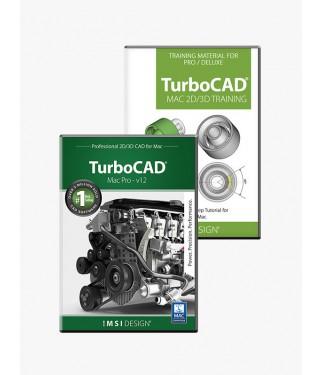 TurboCAD Mac Pro V12 and Training Bundle