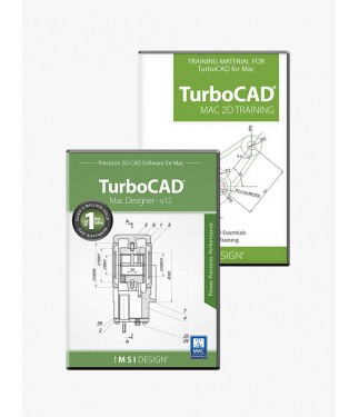 TurboCAD Mac Designer 2D v12 and Training Bundle