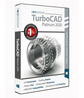 TurboCAD 2020 Platinum Upgrade from all Professional pre-2019 and Platinum versions (v17 to v2018)