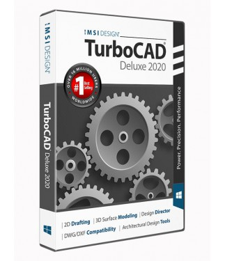 TurboCAD 2020 Deluxe Upgrade from all other Deluxe versions pre-v2019 (v17 to v2018)