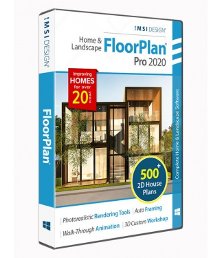 FloorPlan 2020 Home & Landscape Pro with Custom Workshop Pro