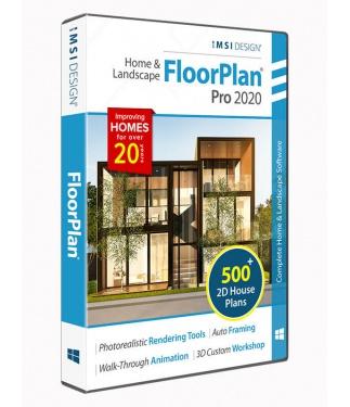 FloorPlan 2020 Home & Landscape Pro without Custom Workshop Pro