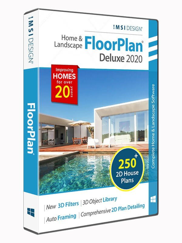 Floorplan 2020 Home Landscape Deluxe Turbocad Via Imsi Design