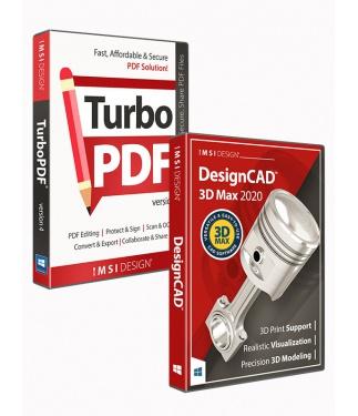 DesignCAD 3D Max 2020 and TurboPDF v4 Bundle