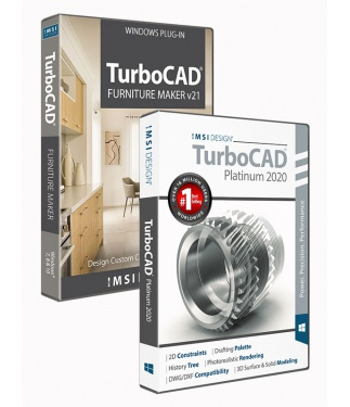 TurboCAD 2020 Platinum Bundle with The Furniture Maker V21
