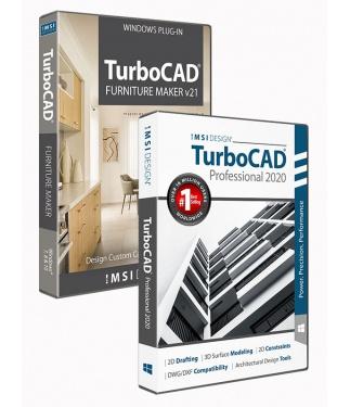 TurboCAD 2020 Professional Bundle with The Furniture Maker V21