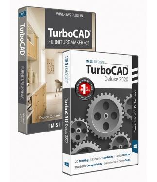 TurboCAD 2020 Deluxe Bundle with The Furniture Maker V21