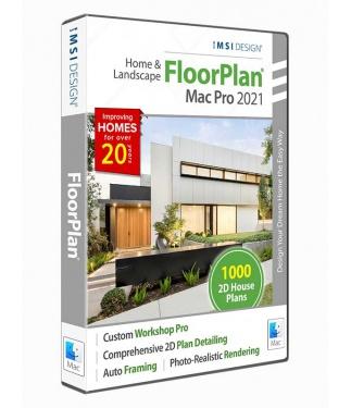 FloorPlan 2021 Home & Landscape Pro with Custom Workshop Pro - Mac