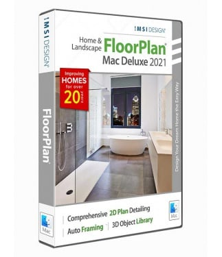 FloorPlan 2021 Home & Landscape Deluxe - Mac