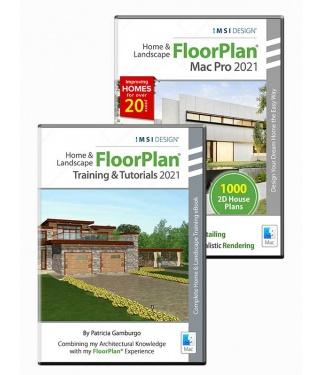 FloorPlan Pro 2021 and Training Bundle - Mac Version