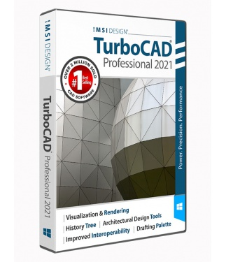 TurboCAD 2021 Professional Upgrade from TurboCAD Deluxe, LTE, LTE Pro, or Expert