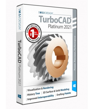 TurboCAD 2021 Platinum Upgrade from all Professional and pre-2020 Platinum versions