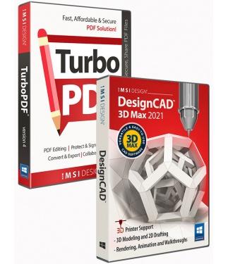 DesignCAD 3D Max 2021 and TurboPDF v4 Bundle