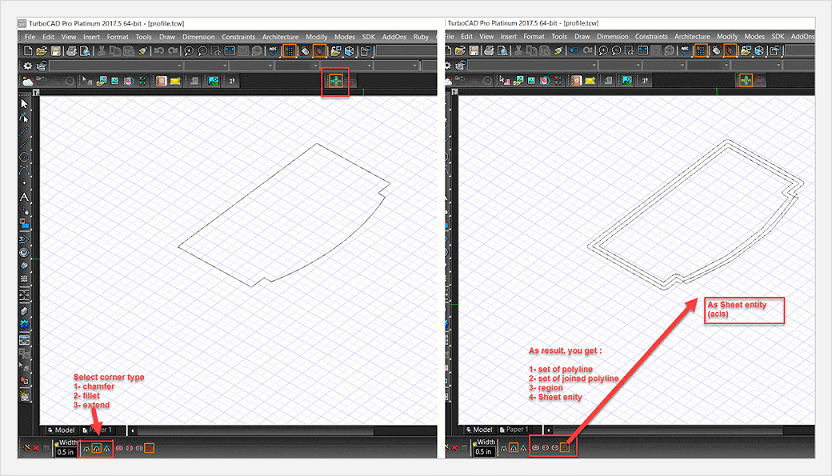 Thick Profile tool