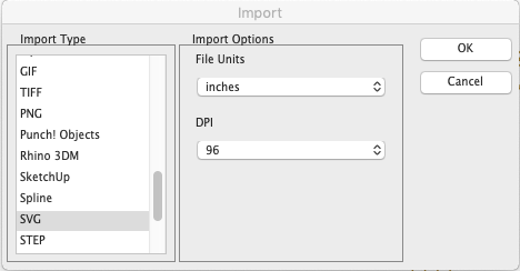 SVG Import and Export