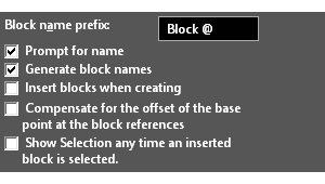 New Options for Blocks